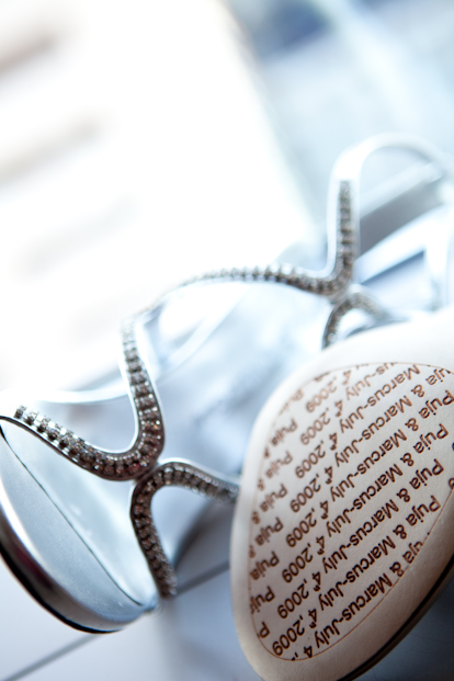Custom designed wedding shoes, image by La Vie Photography