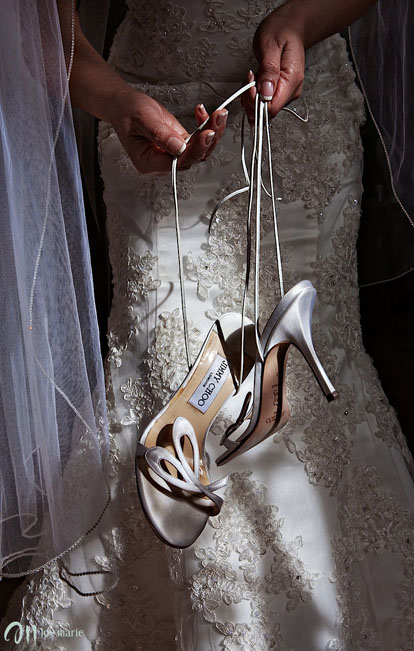 Jimmy Choo wedding ceremony shoes, image by Joy Marie Photography