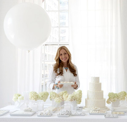 Amy Atlas, the queen of beautifully designed and delicious wedding dessert tables, image via AmyAtlas.com