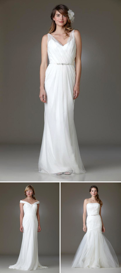 Amy Kuschel's 2010 wedding dress collection, Viva, Ashbury and Ballet wedding gown styles