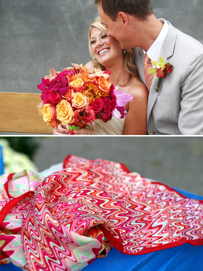 modern red, pink and green wedding inspiration, images by Bella Signature and Life Mosaics Photography