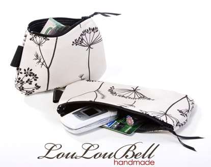 Bridesmaid's gift give-away, fabric pouches and purses from LouLouBell on Etsy
