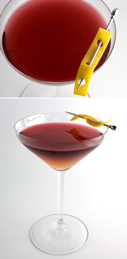 Red Velvet cocktail from James MacWilliams of Canlis Restaurant, images by Brian Canlis