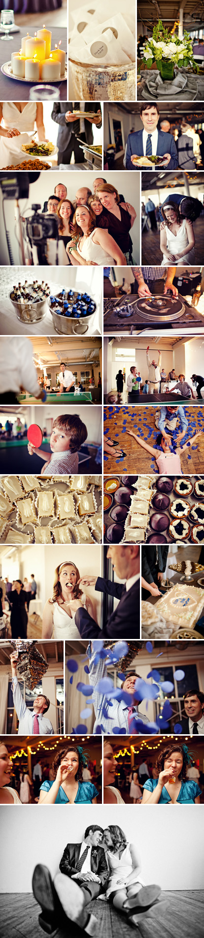 Sean Flanigan Photography, super fun Seattle wedding with pinatas and ping-pong
