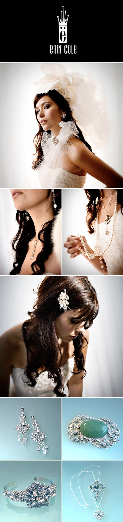 Bridal veils, jewelry and hair accessories by Erin Cole