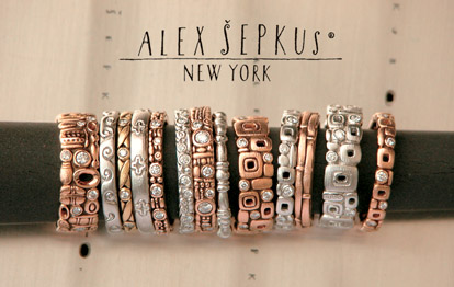 Alex Sepkus bridal jewelry trunk show at Fox's Gem Shop, Seattle