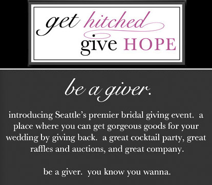 Super fun Seattle wedding charity event, Get Hitched Give Hope