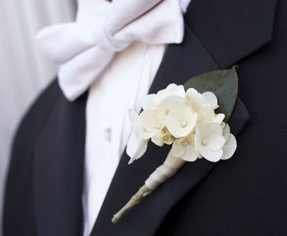 Formal men's white tie tuxedo for grooms, groomsmen and weddings, John and Joseph Photography
