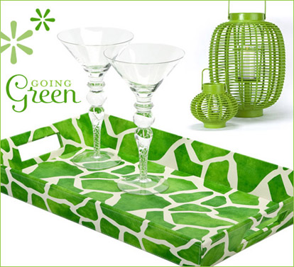 Summer green party decor and accessories from Hostess with the Mostess