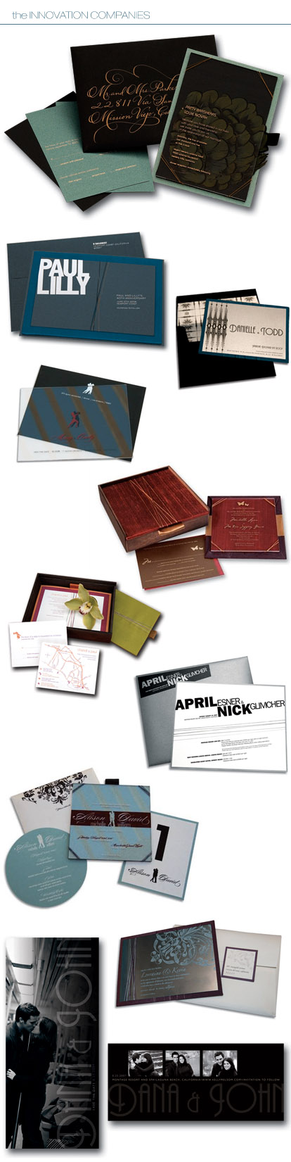 Custom wedding invitations from The Innovation Companies