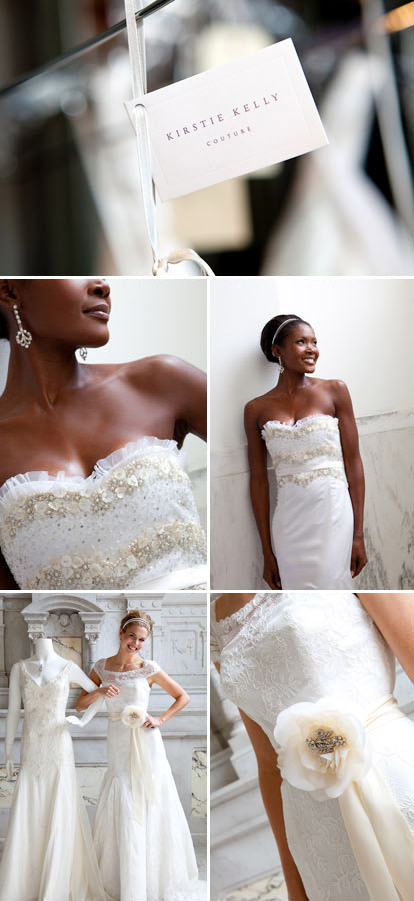 Kirstie Kelly Couture wedding gowns, images by Junebug Weddings