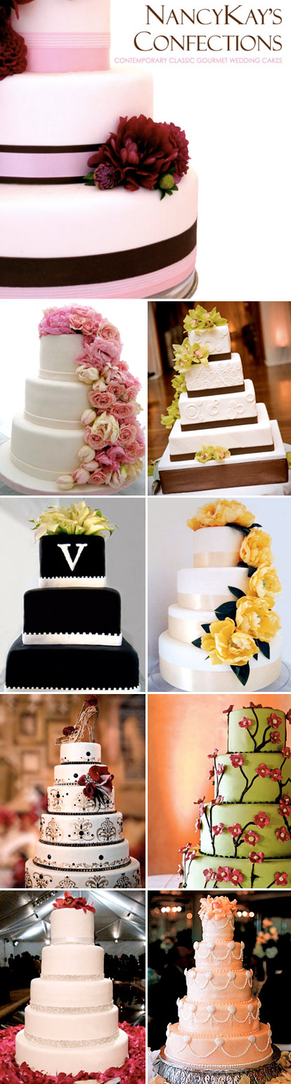 Wedding cakes by NancyKay Confections