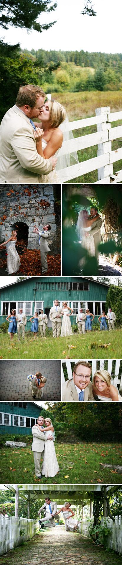 Casual Pacific Northwest San Juan Island wedding , fun wedding couple images by Riso Studio