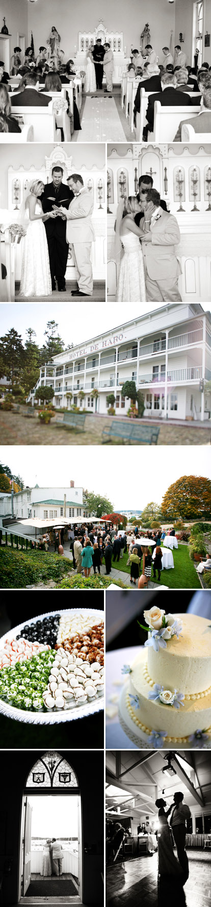 Casual Pacific Northwest San Juan Island wedding , wedding ceremony and reception, images by Riso Studio