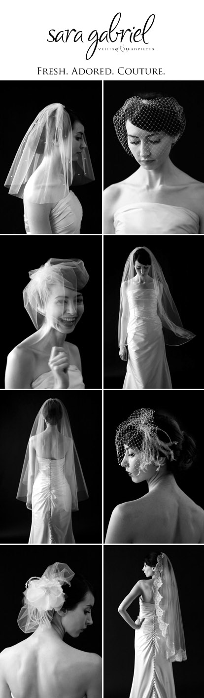 Bridal veils and hair accessories by Sara Gabriel