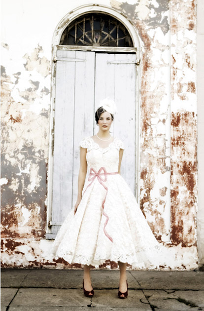 Image by Victor Sizemore, vintage inspired Josephine wedding dress from Stephanie James Couture