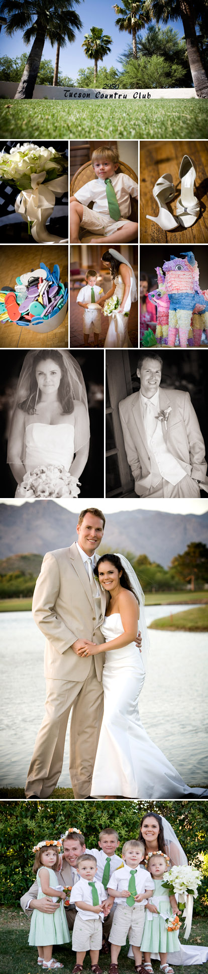 Tuscan, Arizona outdoor wedding ceremony at the Tuscan Country Club, images by Roberto Valenzuela Photography