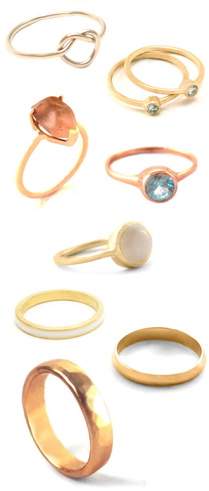 alternative and eco-friendly wedding and engagement rings made from recycled materials by Bario-Neal