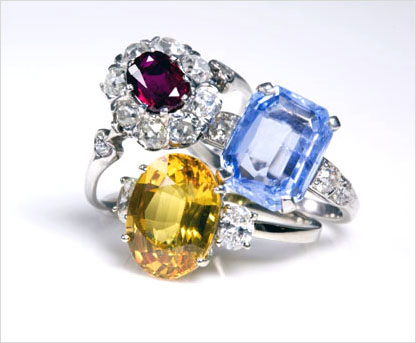 Antique, vintage and estate colored stone wedding rings and engagement rings, alternative wedding rings