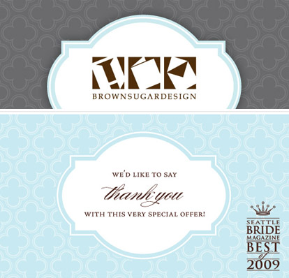 Letterpress Wedding Invitation And Thank You Note Special Offer From Brown Sugar Design