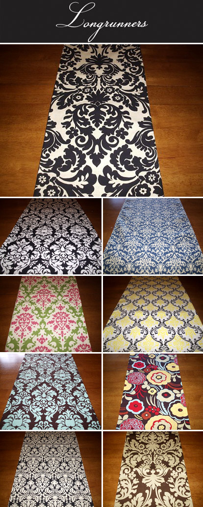 Damask And Graphic Pattern Wedding Table Runners Black White Tiffany Blue Mocha
