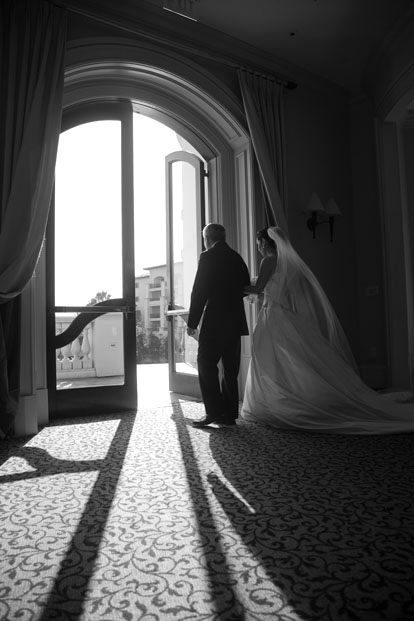 Wedding ceremony, walking down the aisle, image by Ira Lippke Studios