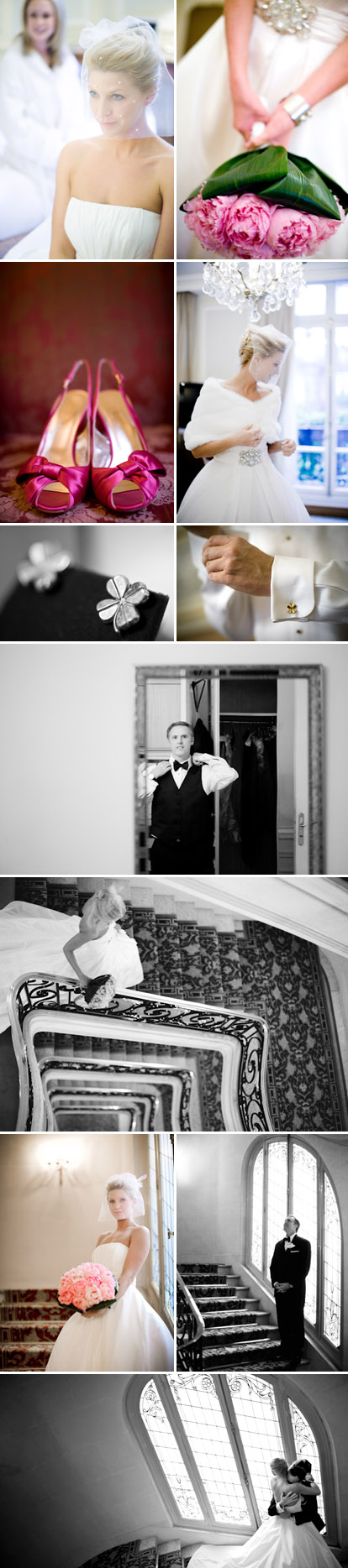 New Year's Eve elopement wedding in Paris, France, fuchsia and pink wedding color palette, Amy and Stuart Photography