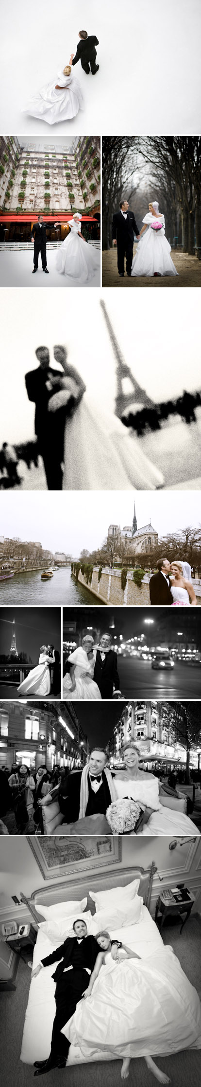 New Year's Eve elopement wedding photos in Paris, France, The Eiffel Tower, Notre Dame, the Champs-Elysees, Amy and Stuart Photography