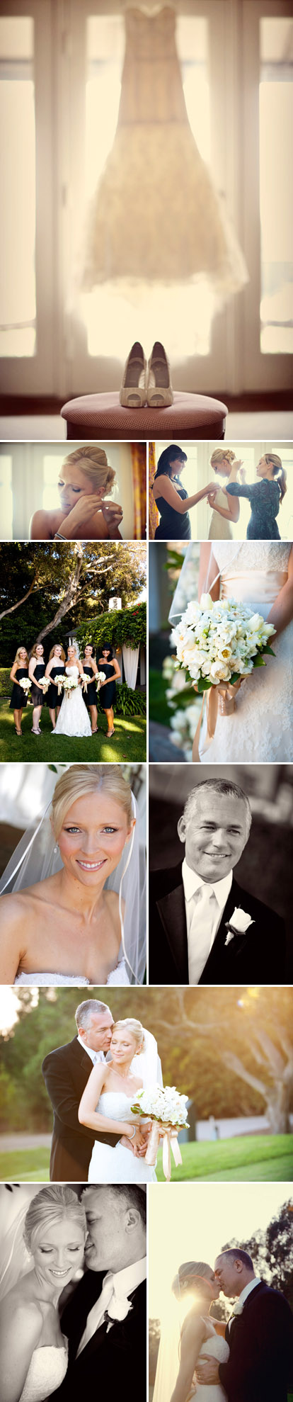 Romantic fall Santa Barbara, California real wedding at The Valley Club of Montecito, photographed by Boutwell Studio