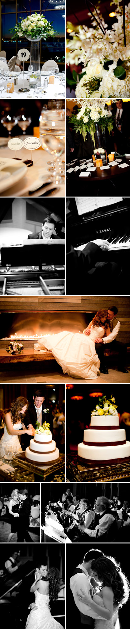 Modern Seattle wedding at the new Four Seasons Hotel, big band wedding reception, images by La Vie Photography