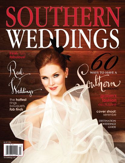 Southern Weddings magazine cover, 2010 issue