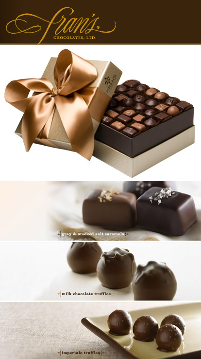 Fran's Chocolates, chocolate truffles and salted caramels