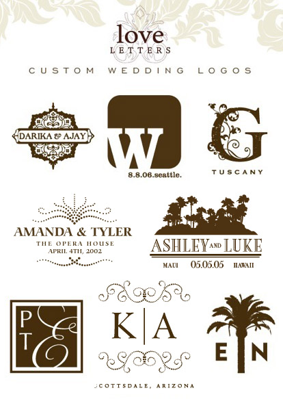 Personalized Wedding Monograms And Logos From Love Letters