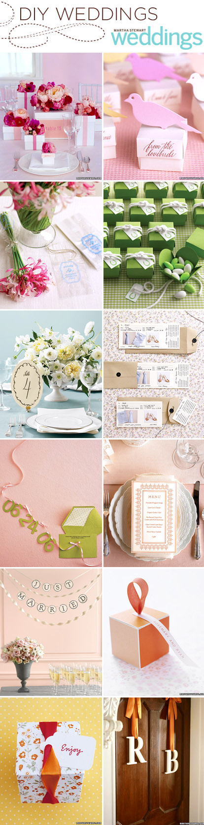 wedding DIY projects from Martha Stewart Weddings