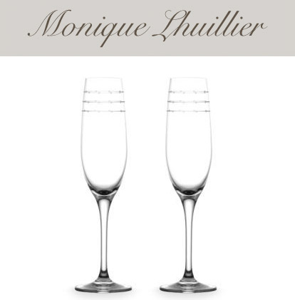 Monique Lhuillier wedding champagne flutes, wedding gifts and online wedding registry