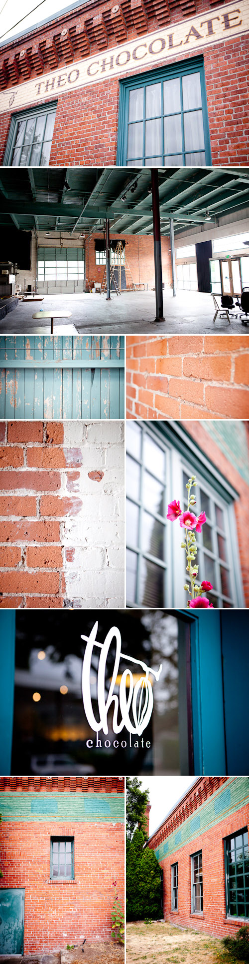 Theo Chocolate warehouse 4 week wedding location, alternative Seattle wedding venue, images by Junebug Weddings