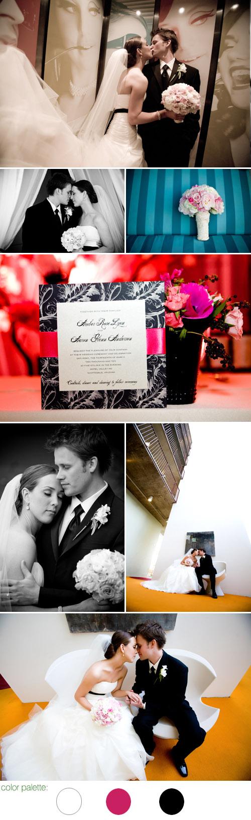 Scottsdale, Arizona Hotel Valley Ho real wedding photos by Kimberly Jarman