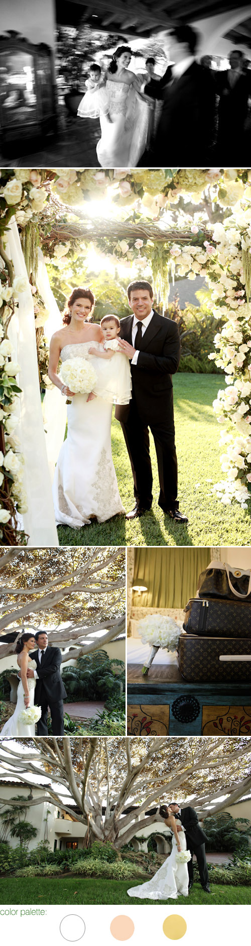 Stylish Santa Barbara real wedding at The Four Seasons Biltmore - Angelique and Michael Deluca - The Social Network movie producer - images by Joan Allen Weddings