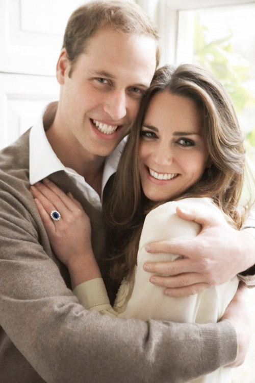 Engagement photo of Prince William and Kate Middleton, photographed by Mario Testino