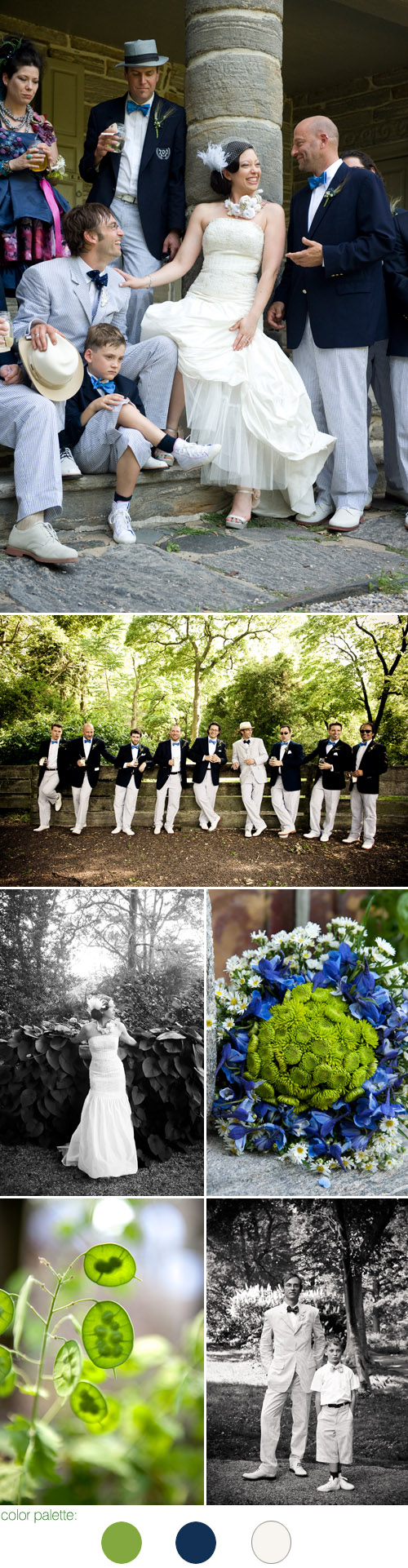 formal BBQ garden Philadelphia real wedding at Bartram's Garden, photos by Leah MacDonald