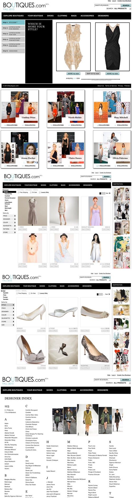 Google's new fashion site Boutiques.com, online designer clothes and accessories shopping