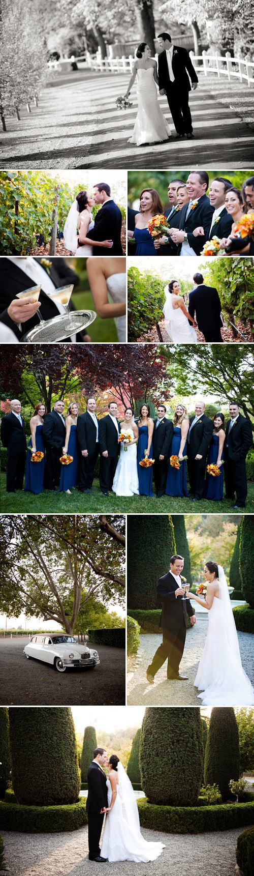 fall real wedding at Beaulieu Gardens in Napa California, photos by Jennifer Bowen Photography
