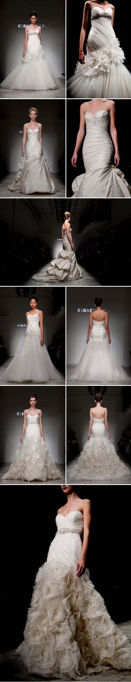 Kenneth Pool spring 2011 wedding dress collection, New York Bridal Market, photos by John and Joseph Photography