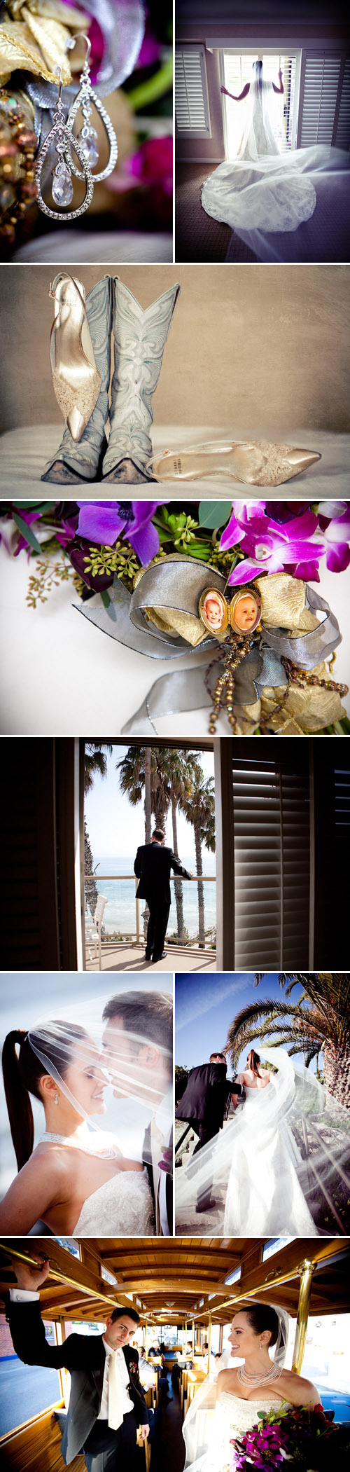 Laguna Beach art gallery real wedding, images by Callaway Gable Photography