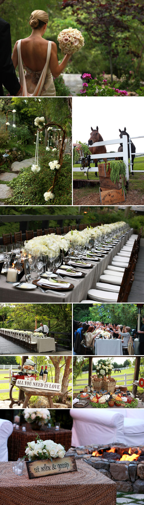 Malibu farm wedding design by Lisa Gorjestani of Details Event Planning, photos by Starla Fortunato