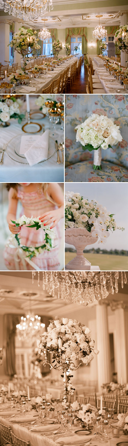 elegant romantic wedding decor, design by Lisa Gorjestani of Details Event Planning, photos by Elizabeth Messina