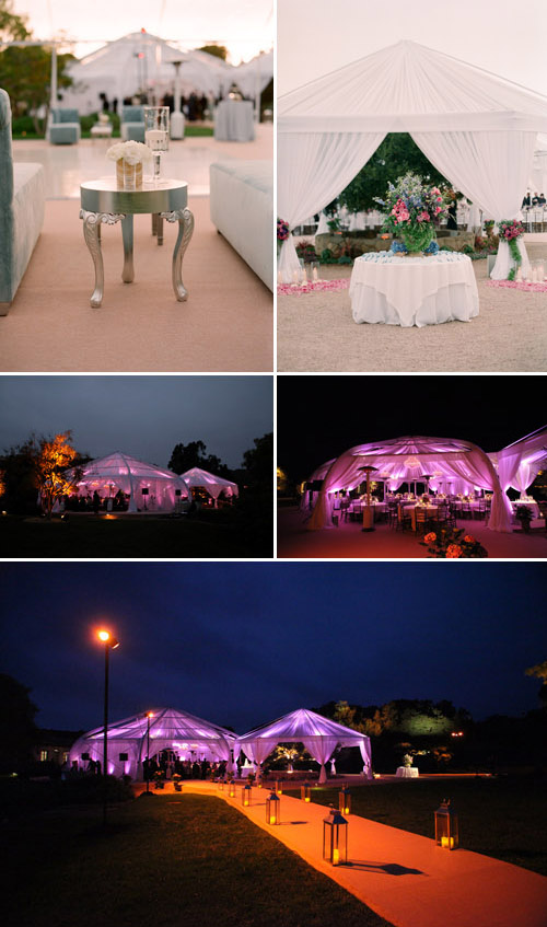 creative wedding tenting design by Lisa Gorjestani of Details Event Planning, photos by Elizabeth Messina