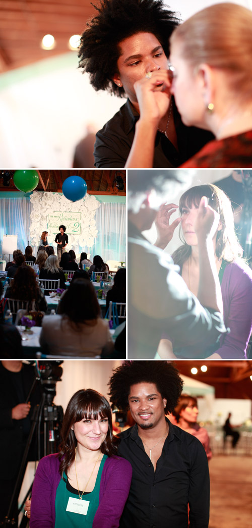 False eyelashes by Ja'Maal Buster at Mindy Weiss' Most Ridiculous Wedding Event Ever 2!