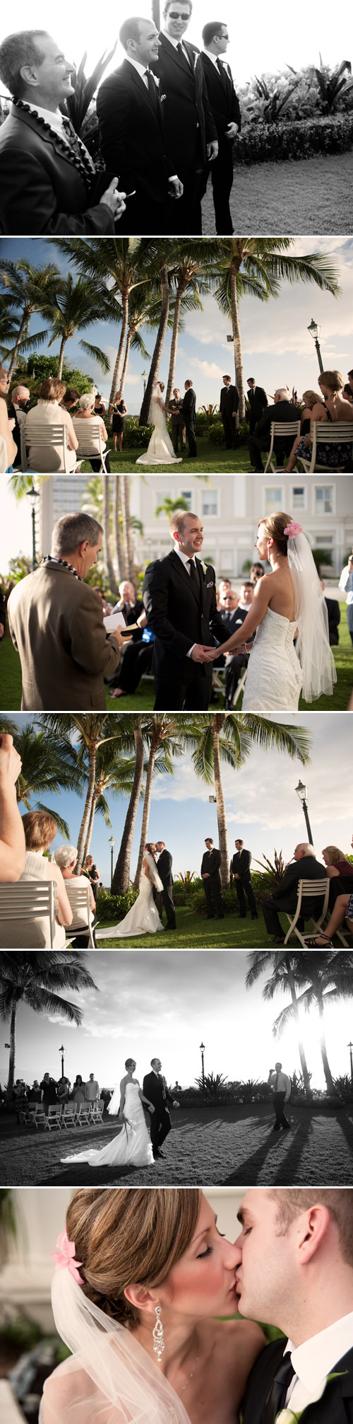 beachfront destination wedding at Westin Moana Surfrider, Waikiki, Hawaii, photography by Derek Wong