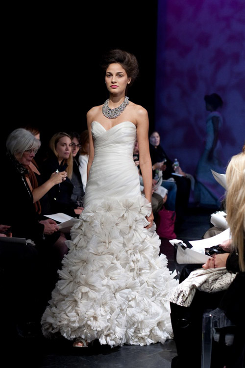 Rivini fall 2011 wedding dress collection, NYC bridal market, photos by John and Joseph Photography